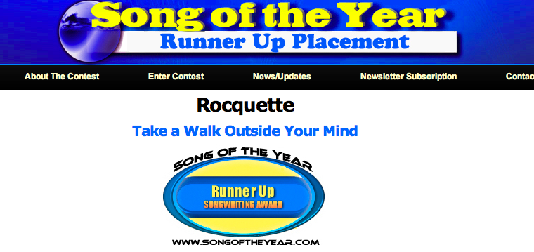 """Read more about the article Song of the Year: Runner Up """"Take a Walk Outside Your Mind"""""""