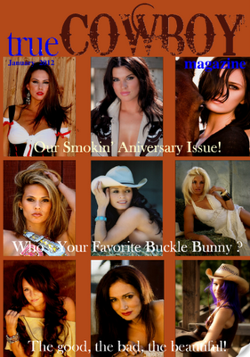 BUCKLE BUNNY CONTEST! True Cowboy Magazine featuring Barbie Hardrock