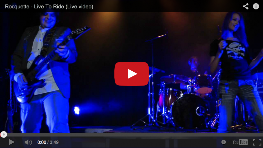 "One for the bikers! New video of ""Live To Ride"""