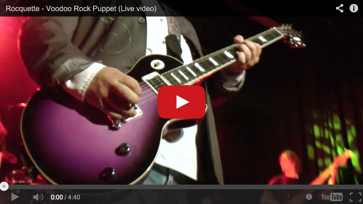 "New video of ""Voodoo Rock Puppet"""