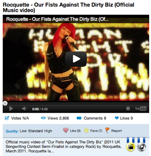 "Video Awards for ""Our Fists Against The Dirty Biz"""