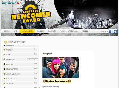 You are currently viewing Rocquette Nominated For Austrian Newcomer Award