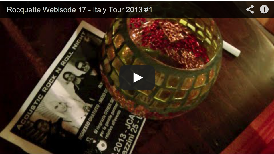 Tour diary Oct 24 – Italy tour 2013: day 1