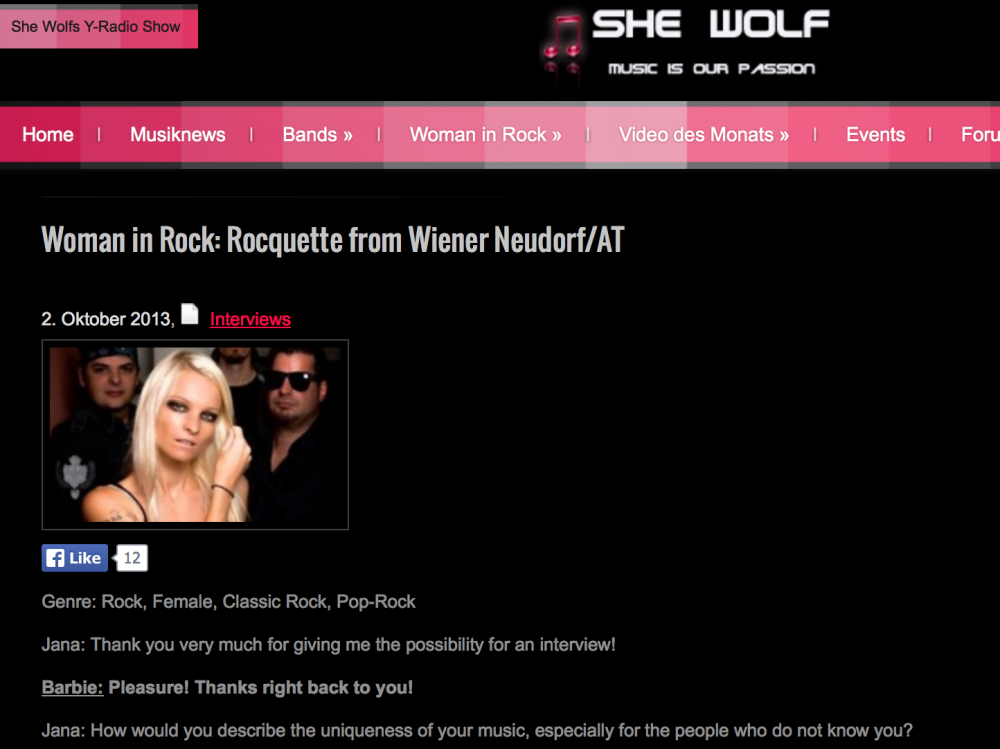 Interview with She Wolf