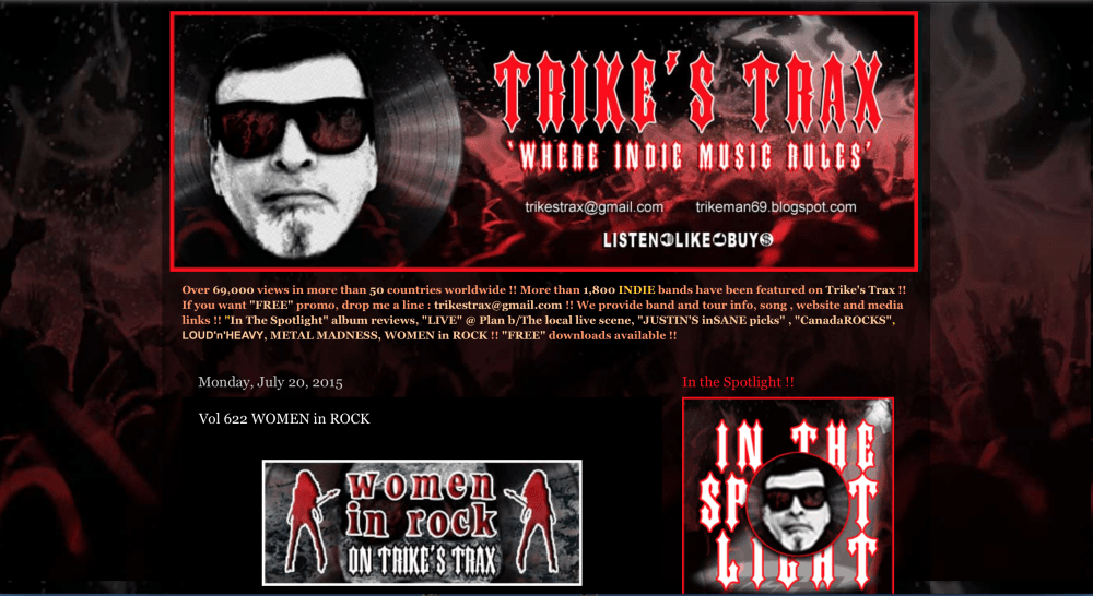 Trike's Trax: Vol 622 WOMEN in ROCK